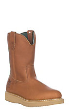 Georgia Men's Gold Wedge Wellington Soft Round Toe Work Boot