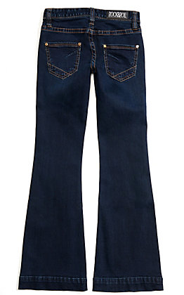 Rock & Roll Cowgirl Girls' Dark Wash Basic Trouser Jeans