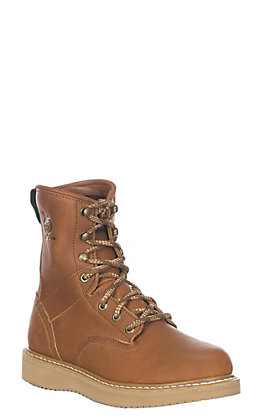 Georgia Gold Wedge Lace Up Soft Toe Work Boot