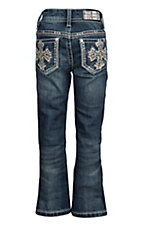 Grace in LA Girls Tan Stitch Cross Boot Cut Jeans