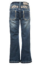 Grace in LA Girls Paisley Yoke-Detail Bootcut Jeans