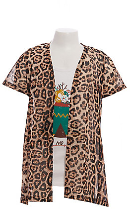 Crazy Train Girls' Leopard Print Duster
