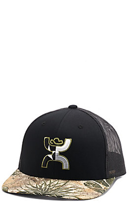 Hooey Men's Game Guard Black Hands Up Logo Cap