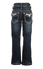 Wired Heart Girl's Dark Wash Boot Cut Jeans