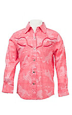Rock 47 Girl's Pink L/S Western Shirt