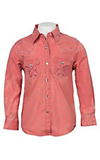 Rock 47 Girl's Coral Long Sleeve Western Shirt