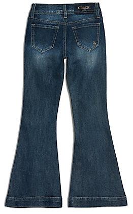 Grace in LA Girl's Medium Wash Flare Leg Jeans
