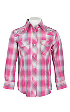 Cowgirl Legend Girls Pink Embroidered L/S Western Shirt
