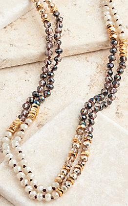Grace & Emma Double Layered Crystal Necklace