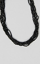 Grace & Emma Black Strand Crimson Necklace