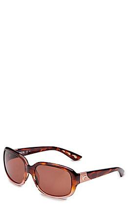 Costa Gannet Shiny Tortoise Fade Copper Sunglasses