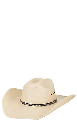 Cavender's Ranch Collection 15X Ivory Guatemalan Palm Ponderosa Cowboy Hat