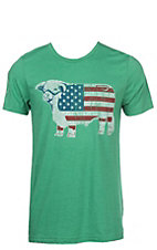 Lazy J Men's Green Flag T-Shirt
