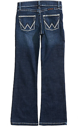 Wrangler Girls' Dark Wash Boot Cut Ultimate Riding Jeans (4-14)
