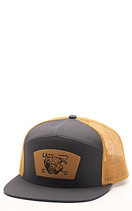 Lazy J Ranch Men's Grey & Gold Elevation Cap