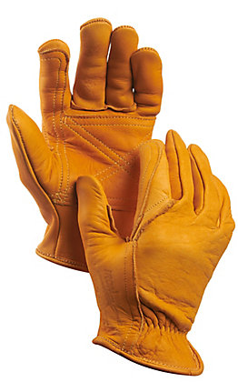 Golden Stag Cowhide Double Palmed Leather Work Gloves