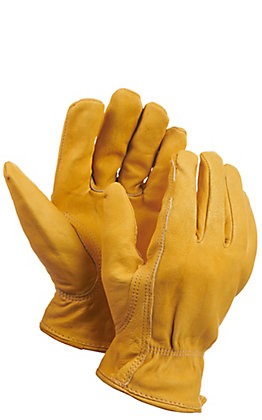 Golden Stag Elkskin Unlined Leather Work Gloves