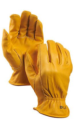 Golden Stag Premium Deerskin Keystone Leather Work Gloves