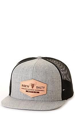 Salty Rodeo Co. Grey & Black The Riggin Snapback Cap