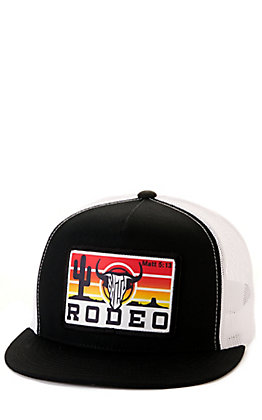 Salty Rodeo Co. Black & White Sunset Trucker Snapback Cap