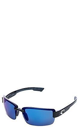 Costa Shiny Black Galveston Polarized Sunglasses