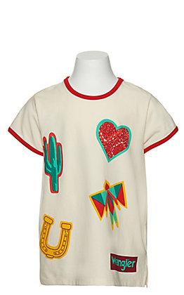Wrangler Girls Western Graphic Ringer T-Shirt