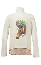 Wrangler Girls Cream L/S Shirt