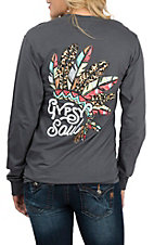 Girlie Girl Originals Women's Charcoal Gypsy Soul L/S T-Shirt