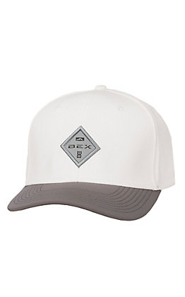 Bex White and Grey Diamond Patch Logo Air Fit Cap