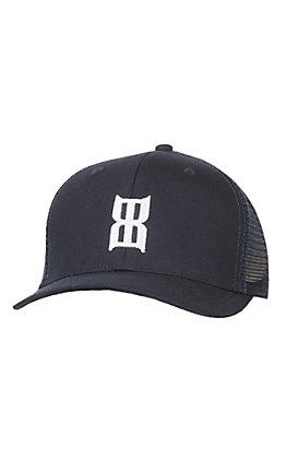 Bex Navy Steel Puff White Logo with a Mesh Snap Back Cap