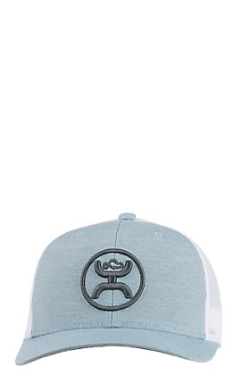 HOOey Cody Ohl Blue with Charcoal Puff Logo and White Mesh Snap Back Cap
