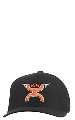 44a15869bd3af Hooey Black   Orange Guns Up Logo Cap