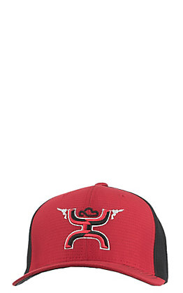 e2094c95809 Hooey Black   Red Guns Up Logo Cap