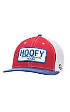 HOOey Red, White and Blue with Patch Logo Mesh Back Cap