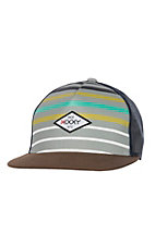 HOOey Patch Stripe Trucker Style Mesh Snap Back Cap