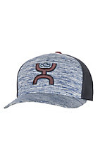 HOOey Men's Wrap Navy Heather Handsup Cap