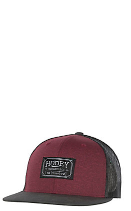 HOOey Burgundy Brands Supply Patch Mesh Back Cap