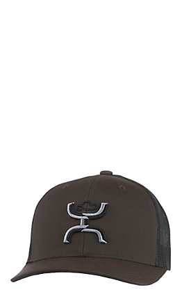 HOOey Brown and Black Sterling Snap Back Cap