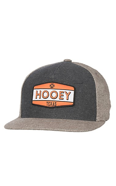 more photos 800cf 79d40 ... where can i buy hooey two tone grey with orange patch logo snap back cap  cavenders