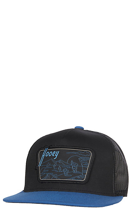 10e7b141db0 HOOey Davis Mountain Patch Trucker Mesh Snap Back Cap