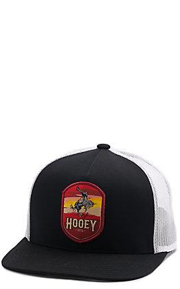HOOey Men's Black Cheyenne Bronc Snapback Cap