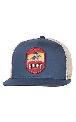 HOOey Heather Cheyenne Blue & Cream Mesh Snap Back Cap
