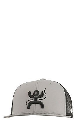 HOOey Grey Two Tone Roughy Welder Snap Back Cap