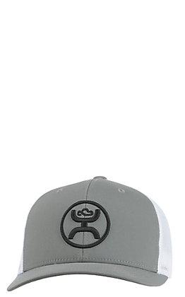 HOOey Men's Grey with Black Logo & Mesh Back Cap