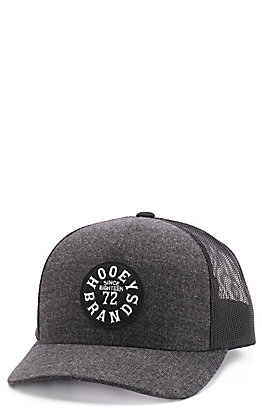 HOOey Men's Grey & Black Pioneer Circle Trucker Cap