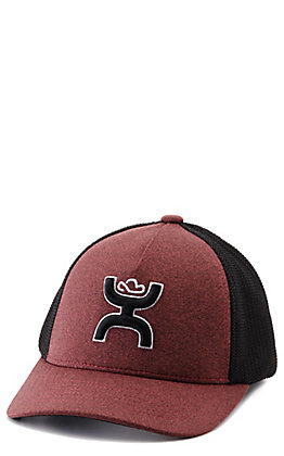 Hooey Youth Maroon and Black with Classic Logo Flexfit Cap