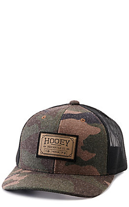 Hooey Camo and Black with Mercantile Logo Patch Snapback Cap