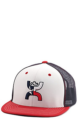 HOOey Men's Red, White, and Blue Texas Snapback Cap
