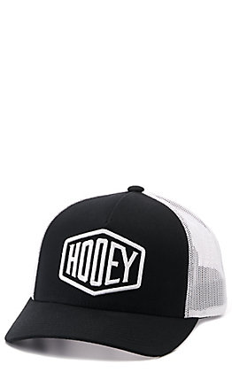 Hooey Youth Black and White with Hexagon Logo Snapback Cap