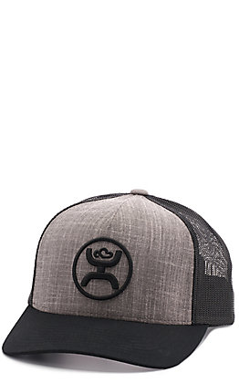 HOOey Grey and Black Cody Ohl Mesh Snap Back Cap